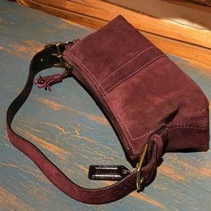 Coach Purple Suede Mini Bag